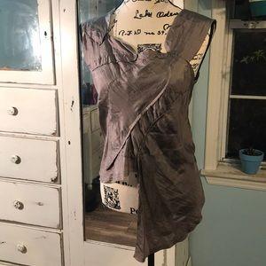 Silk Chan Luu Top gray, zipper